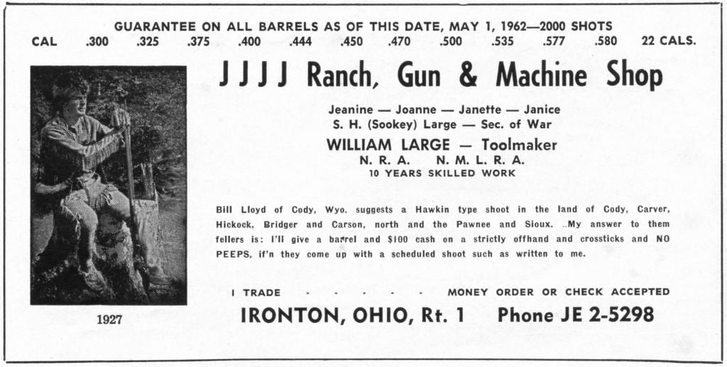 Bill Large barrels ad