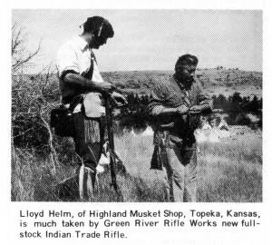 Oct 1974 Buckskin Report Lloyd Helms and Greg Roberts with GRRW Leman Indian Rifle