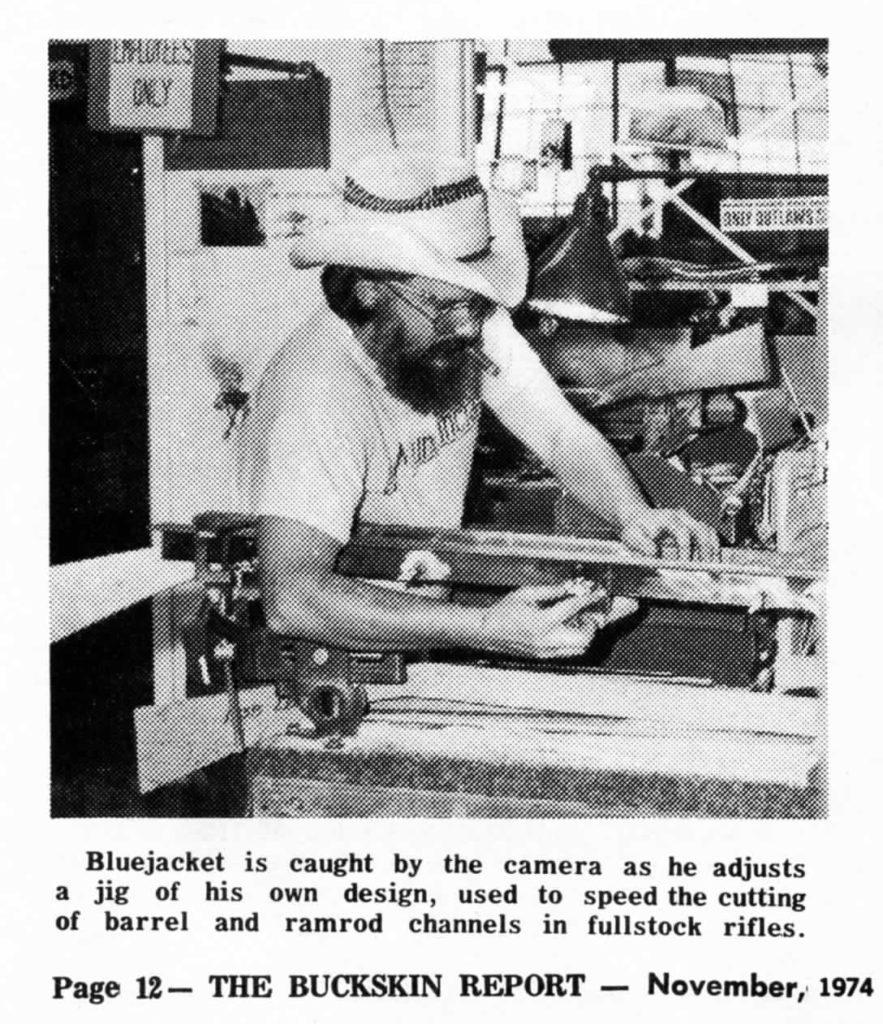 Bluejacket cutting barrel channel with jig