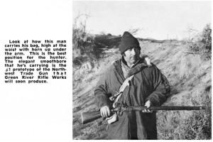 Greg Roberts with prototype NW Trade Gun, Mar 75 Muzzle Blasts