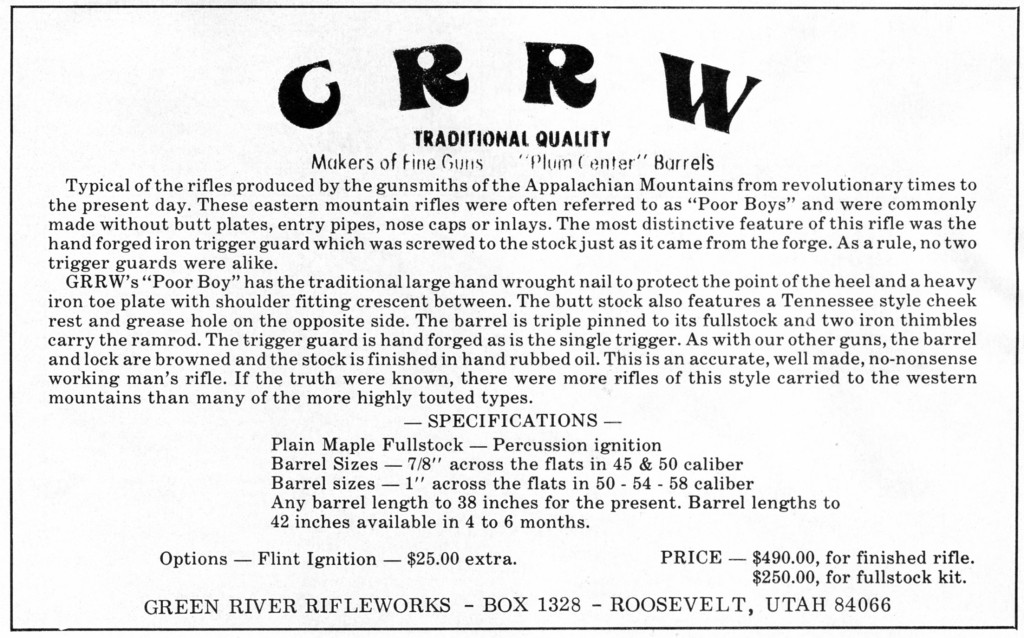GRRW ad in May-June 1977 Muzzleloader mag