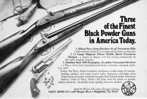 Navy Arms-Ithaca Hawken 1st ad in Jul-Aug 1978 Muzzleloader mag
