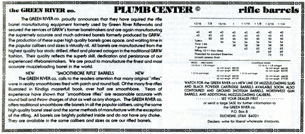 Green River Co ad, first succeesor to GRRW