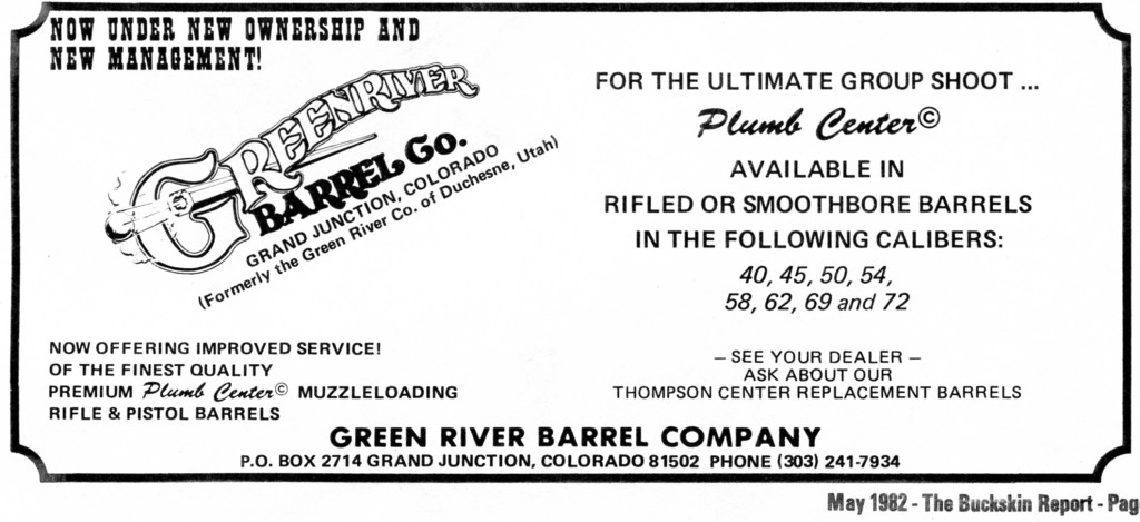 One of the first ads for Green River Barrel Co.