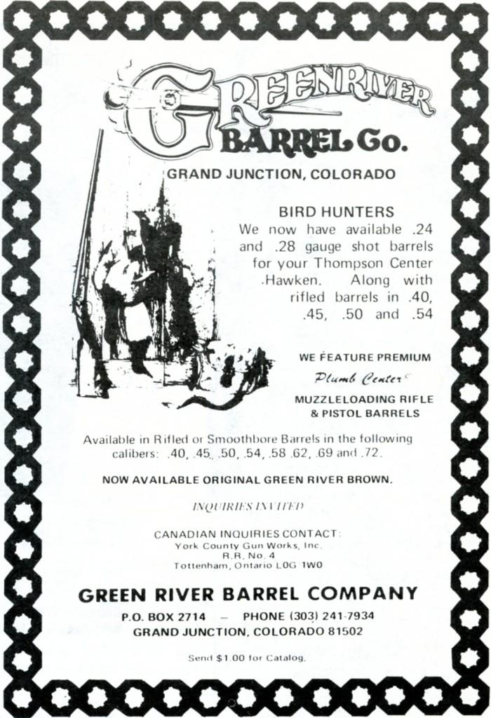 Green River Barrel Co ad for TC drop-in barrels