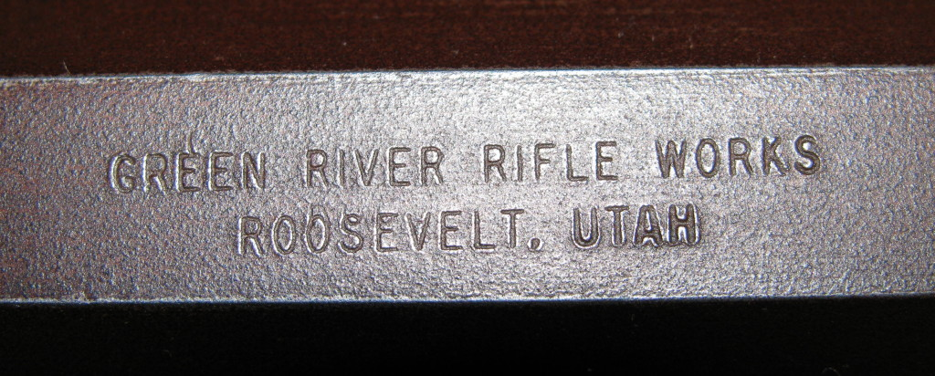 Green River Rifle Works over Roosevelt, Utah stamp