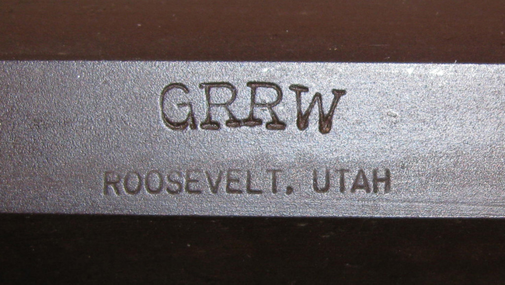GRRW over Roosevelt, Utah stamp on SN 619