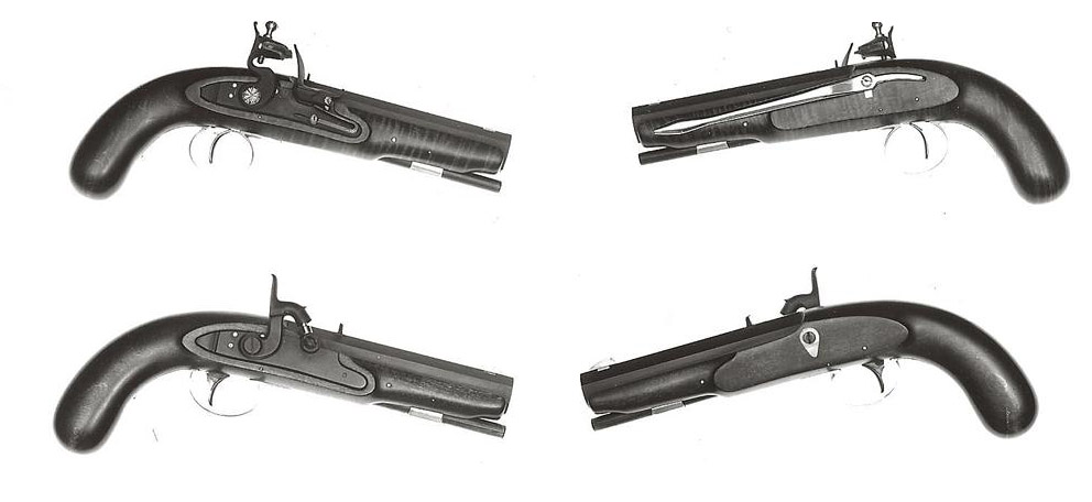 Flintlock and Percussion fullstock Trappers Pistols