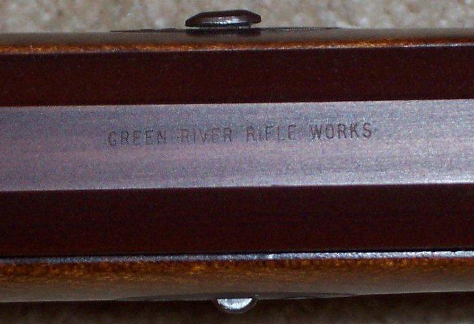 Early Green River Rifle Works Barrel Stamp