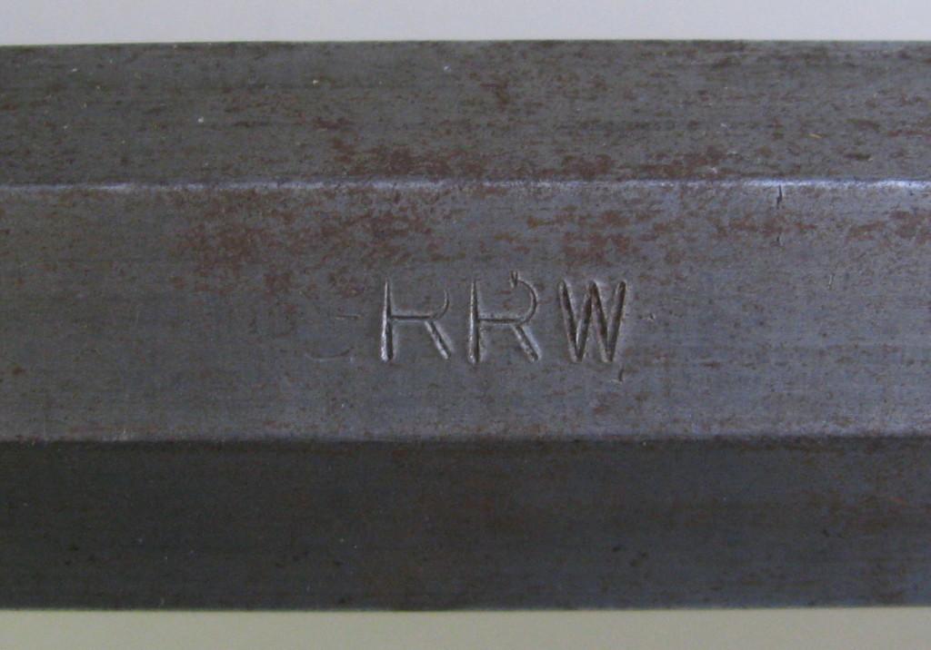 GRRW stamp on flat of kit barrel