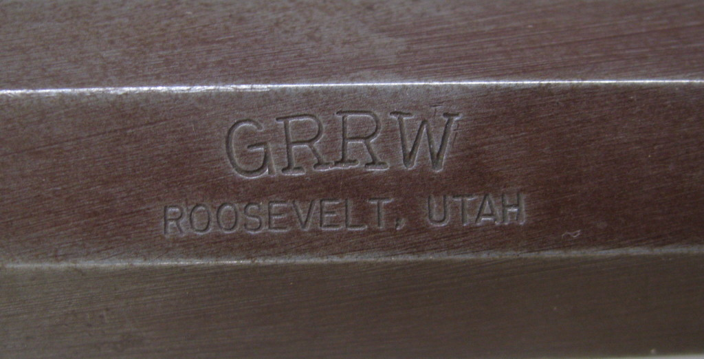 GRRW over Roosevelt, Utah stamp on SN 308