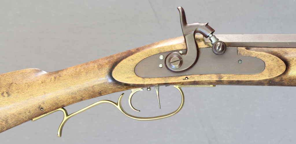 Leman Indian Rifle wrist & lock area