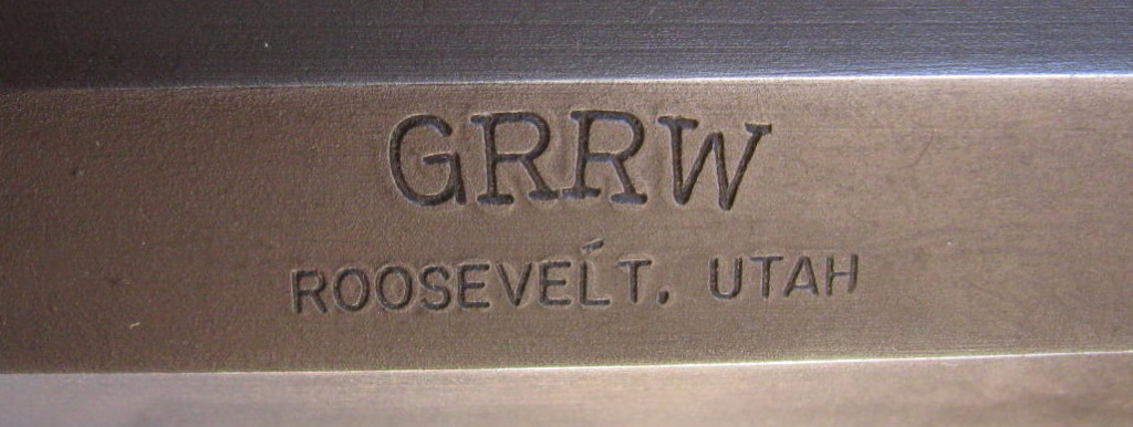 GRRW over Roosevelt, Utah stamp on SN 427