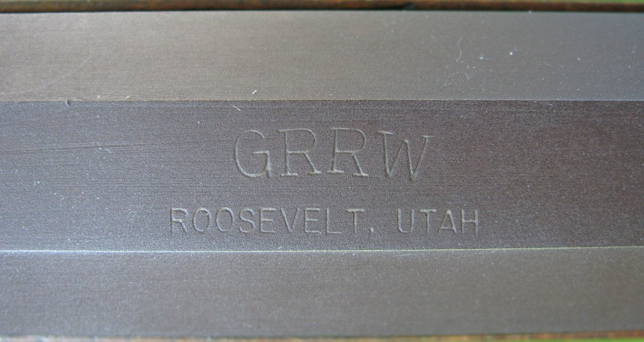 GRRW over Roosevelt, Utah stamp on H-211