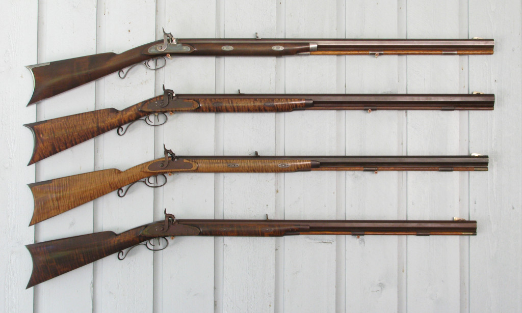 GRRW's success prompted others to enter the market. Green River Forge was the first with a replica of a Northwest trade gun in 1974. Sharon Rifle Barrel Co. soon followed, first with muzzleloader barrels in 1974, then a Hawken kit in 1976. Ithaca Gun Co. decided to enter the black powder gun market, purchased Cherry Corners Mfg. Co. in 1976, and began producing the Ithaca Hawken at the beginning of 1977. Mountain Arms, later to become Ozark Mountain Arms, was next to enter the market in 1977 with a copy of a copy of one of the Hawken rifles in Art Ressel's collection. Art Ressel had opened The Hawken Shop a few years earlier as a muzzleloader store, but it wasn't until 1977 that he began offering parts for a Hawken rifle that were cast from originals in his collection. The Italian company, A. Uberti & Co., and Leonard Allen's Western Arms Corp worked together to bring to market the Santa Fe Hawken rifle in 1979. Uberti's Hawken was clearly the most successful, selling as many as 10,000 finished rifles and kits, and lasting into the early 2000's