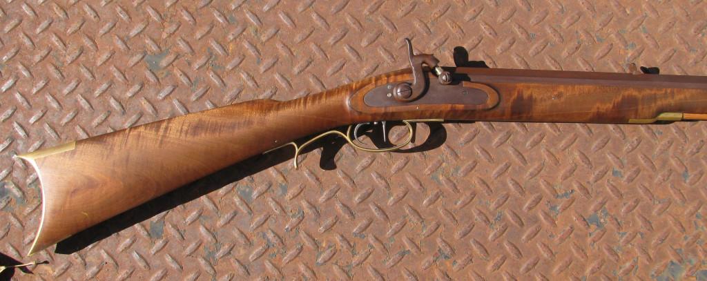 GRRW factory Leman Indian Rifle - flame maple stock