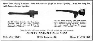 Cherry Corners hooked breech introduced ad