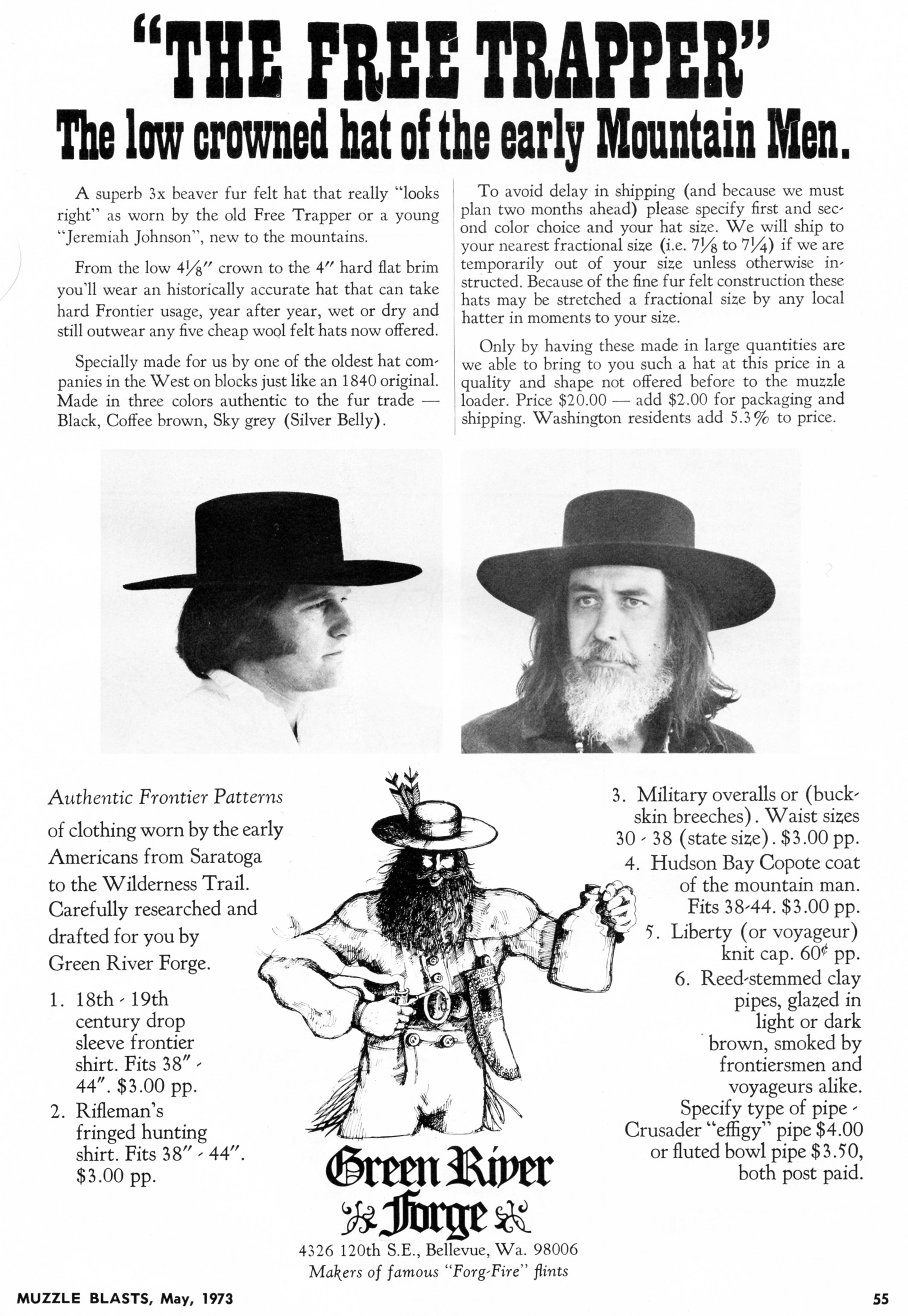 Green River Forge MM hat ad