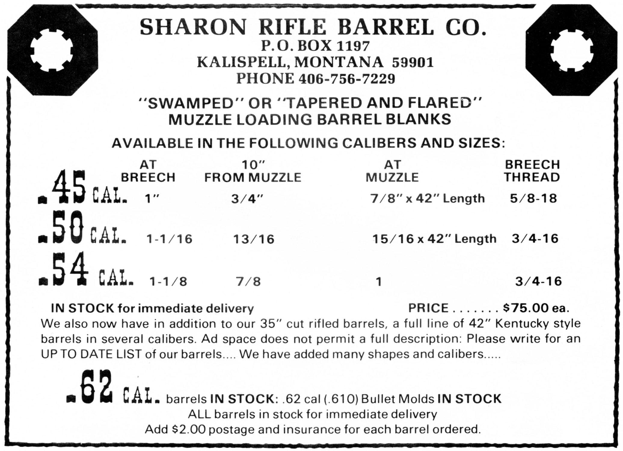 Sharon Rifle Barrel Co – GRRW Collector