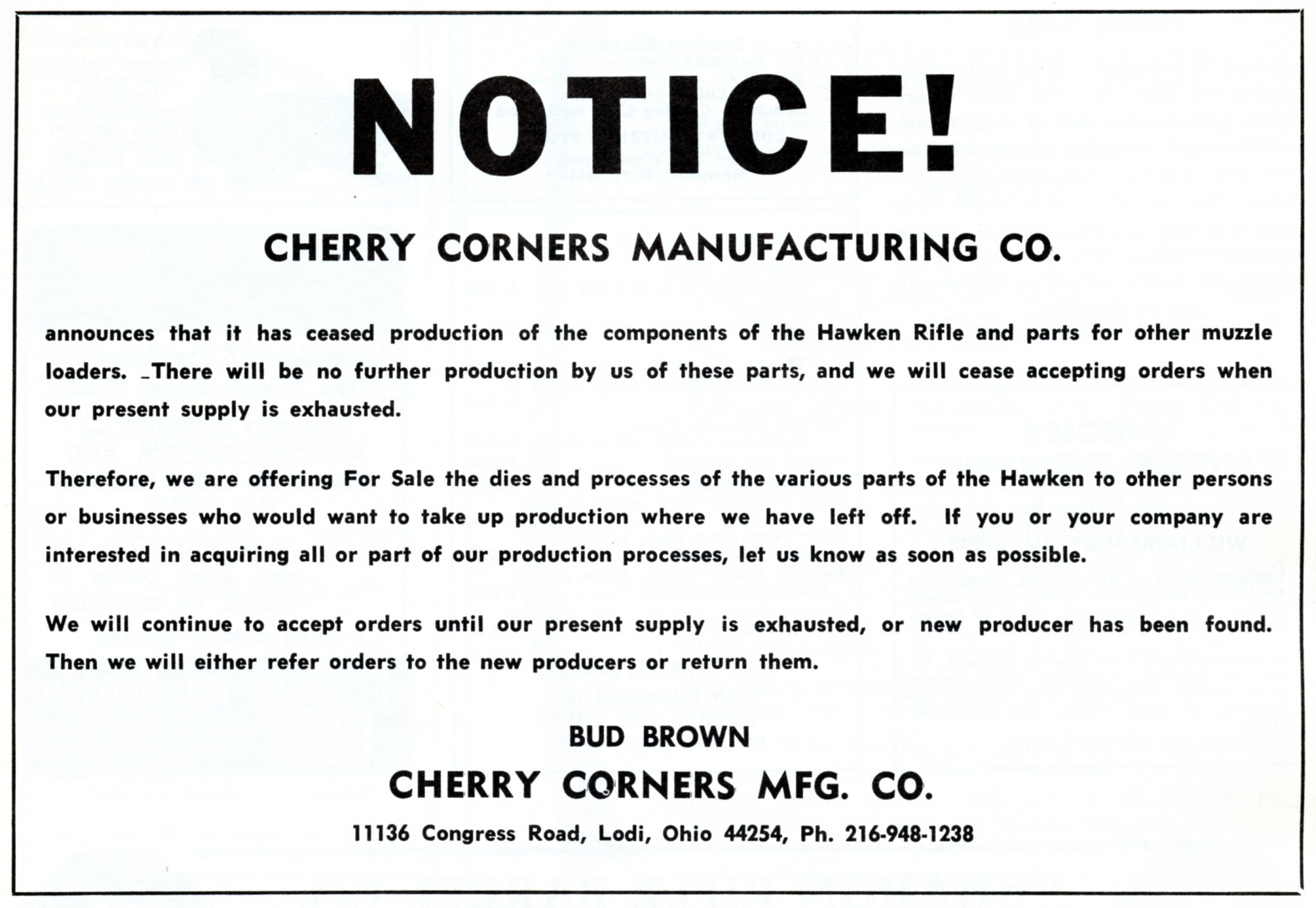 Cherry Corners announce it's quitting