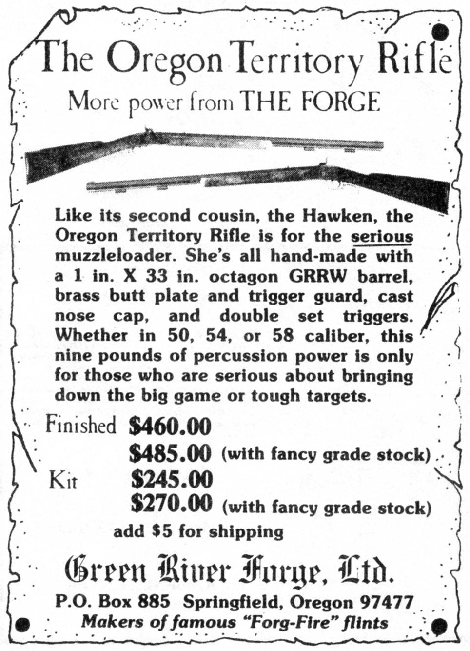Green River Forge, Ltd ad