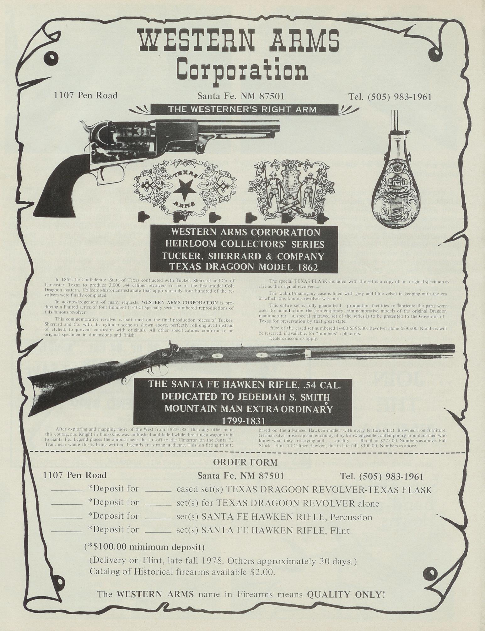 Uberti Santa Fe Hawken – GRRW Collector