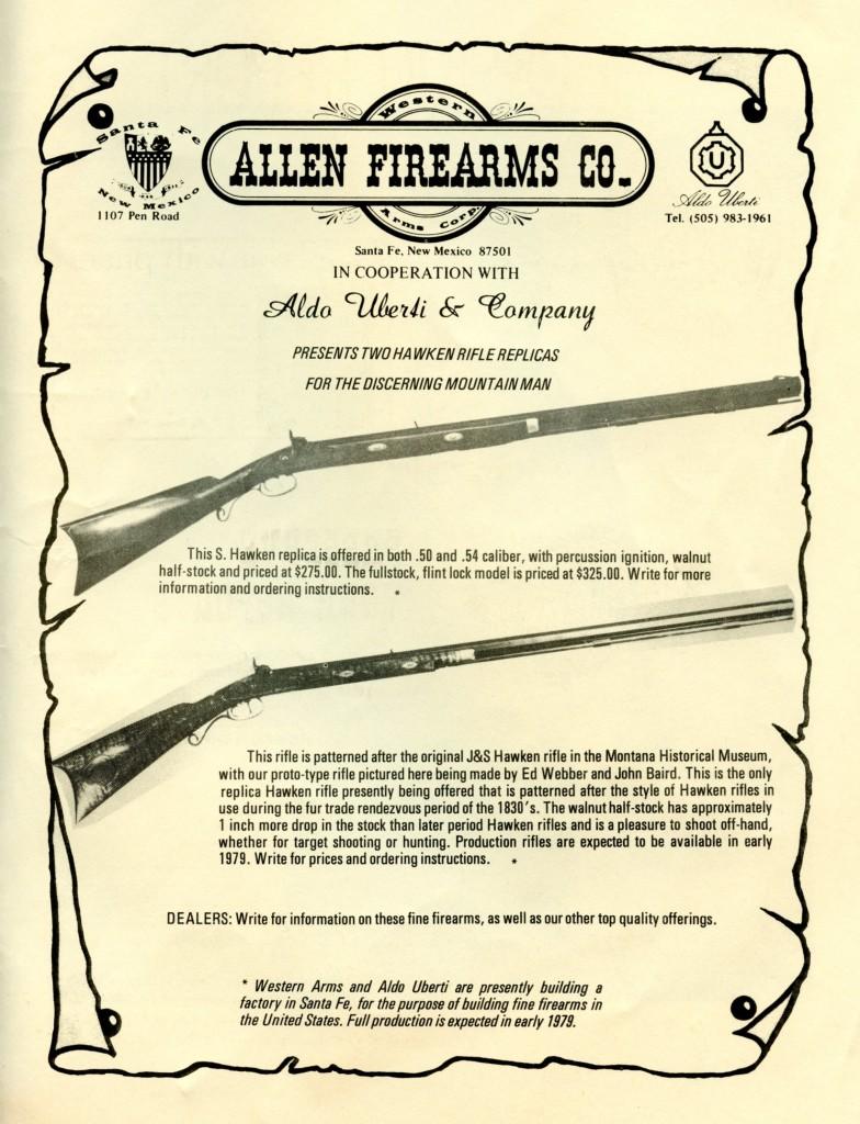 Allen FA S and J&S Hawken ad