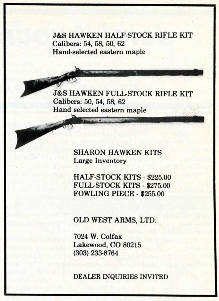 Sharon Hawken kits - Old West Arms, Ltd ad