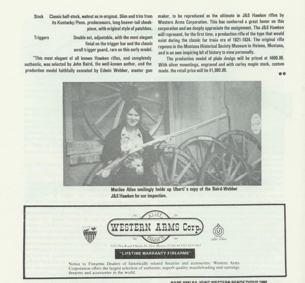 Uberti Baird-Webber J&S Hawken