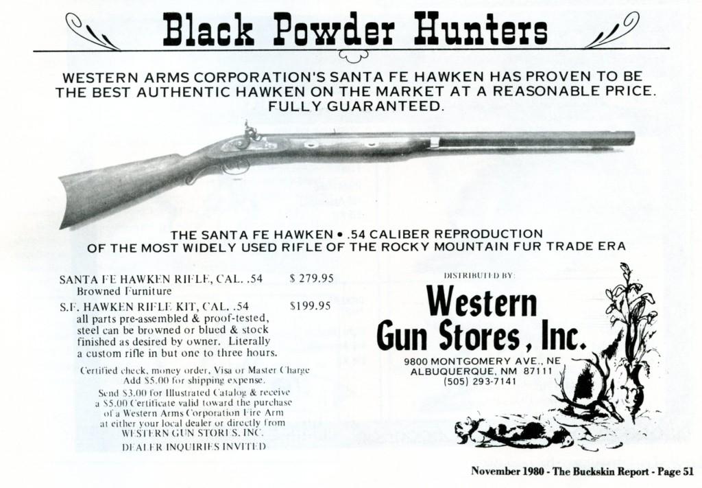 Western Gun Stores Santa Fe Hawken ad