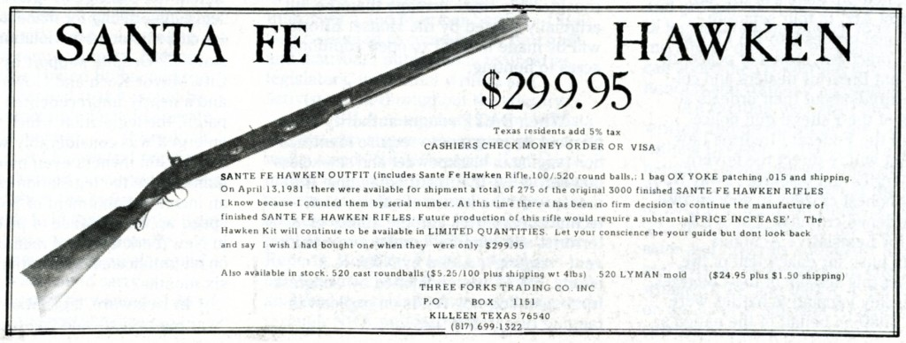 Three Forks Trading Co ad