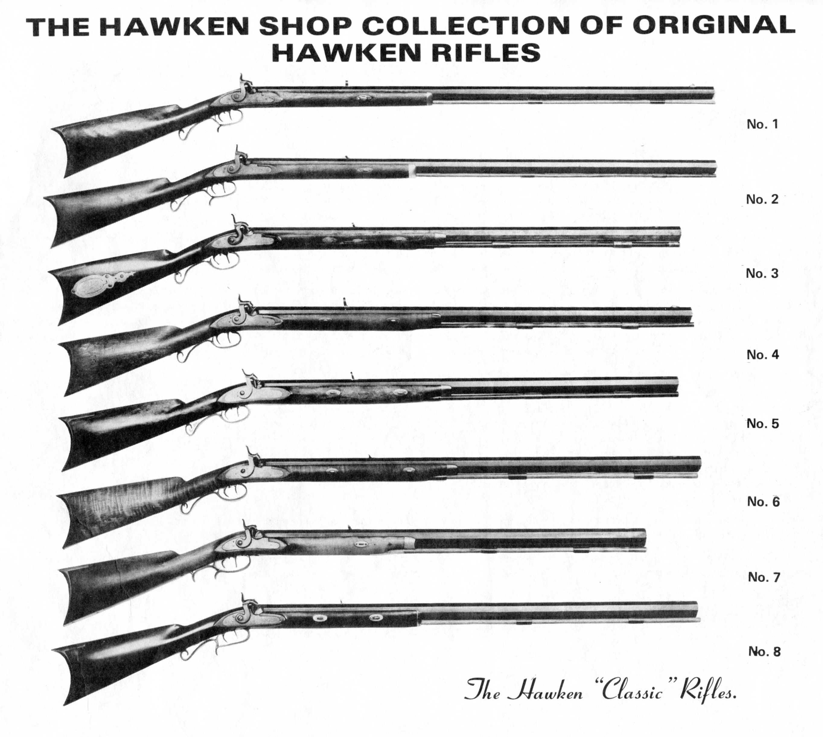 Hawken Shop catalog No 2 Hawken rifle collection