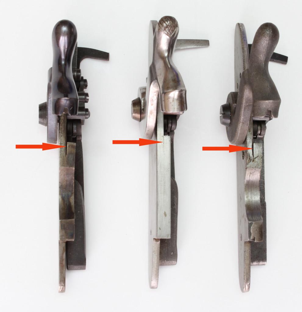 Comparison of two Uberti locks to Cherry Corners lock